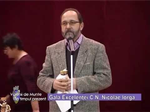Emisiunea Vălenii de Munte la timpul prezent – Gala Excelenței C. N. Iorga – 12 decembrie 2014