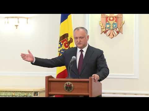 Igor Dodon a susținut o conferință de presă privind obținerea Republicii Moldova a statutului de observator în cadrul Uniunii Economice Eurasiatice
