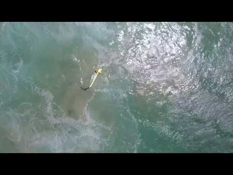The world's first surf rescue by drone