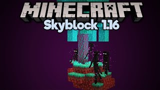 Warped Forest Enderman Farm! • Minecraft 1.16 Skyblock (Tutorial Let's Play) [Part 23]