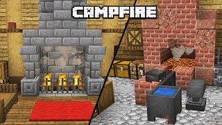 12 MINECRAFT 1.14 Campfire building Ideas [WORLD DOWNLOAD]