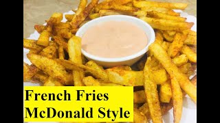 French Fries McDonald Style Easy Recipe    Home_Cooking    Kitchen With Bushi    In Urdu & Hindi