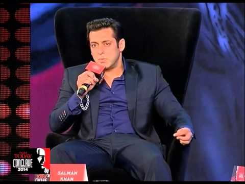 SALMAN - At India Today Conclave 2014, the Bollywood star talks straight from the heart. Watch full video.