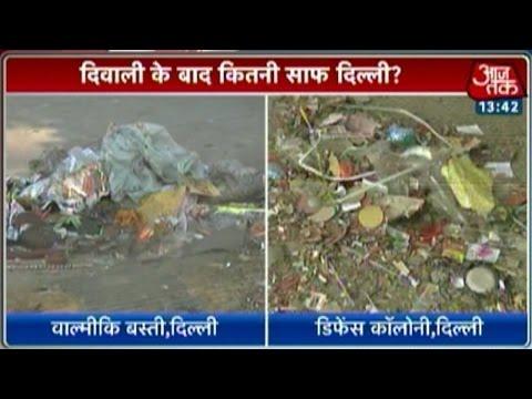 Post-Diwali  Delhi streets littered with firecracker waste 24 October 2014 02 PM