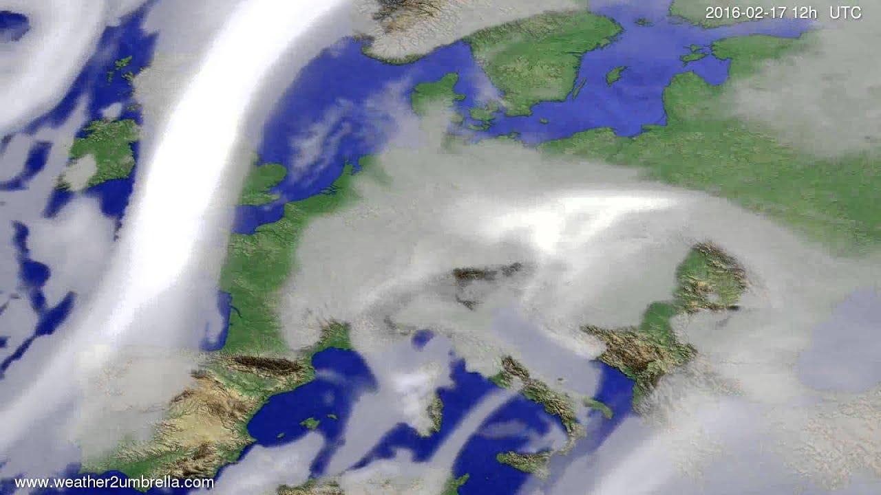 Cloud forecast Europe 2016-02-13