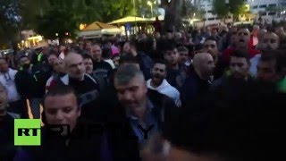 Chios Greece  city photo : Violent clashes erupt between pro and anti-refugee groups in Chios, Greece