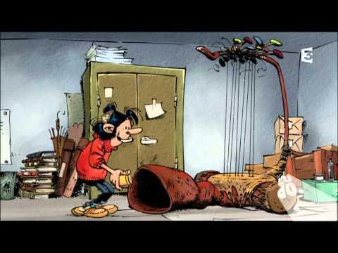 Gaston Lagaffe Gaffophone 15 x 15 cm rare Franquin figurine BD comic