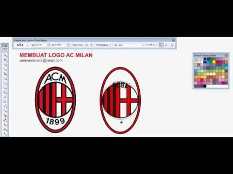 membuat logo ac milan dengan coreldraw x5 coreldraw x4 tutorial