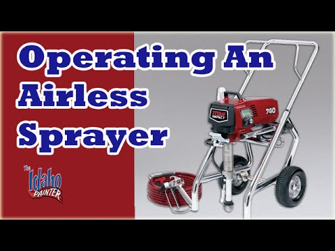 airless paint sprayer - Easy demonstration on how to operate an airless sprayer. Recommendation on spray tip size to use for trim and walls, how to use the prime knob and pressure c...