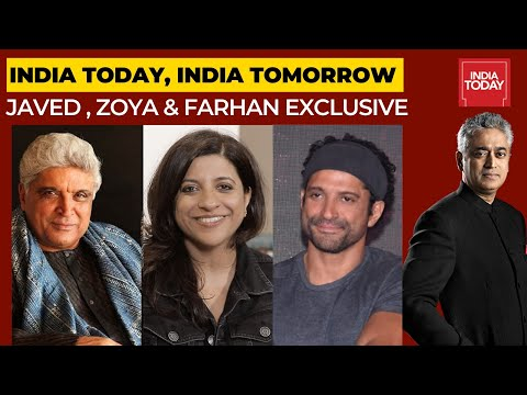 Rajdeep In Conversation With Javed Akhtar, Zoya Akhtar & Farhan Akhtar   India Today, India Tomorrow