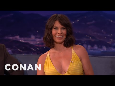 Evangeline Lilly's 30-hour Home Birth  - Conan On Tbs