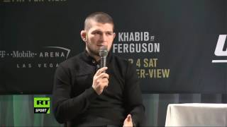 Video 'I don't give a s*** about Conor': Khabib Nurmagomedov Q&A session (FULL VIDEO) MP3, 3GP, MP4, WEBM, AVI, FLV Desember 2018