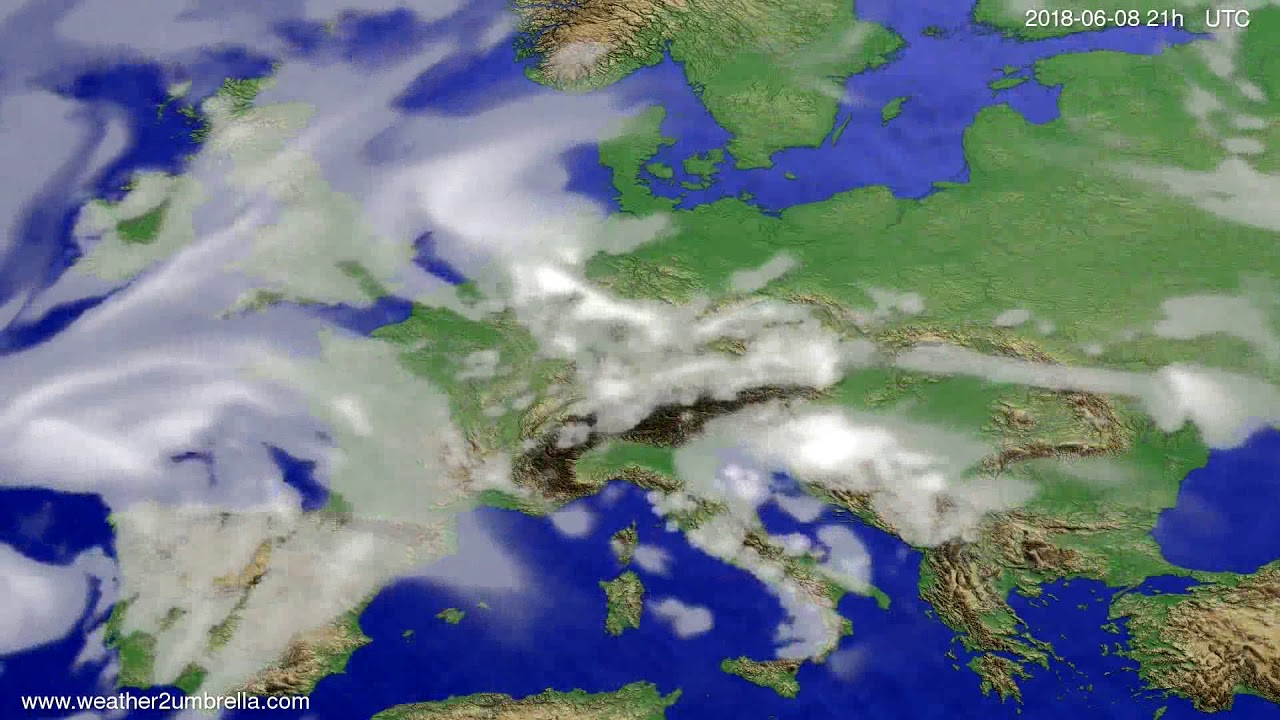 Cloud forecast Europe 2018-06-05