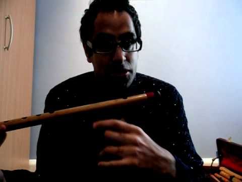 How to play Hindustani Bansuri Flute - Lesson 1