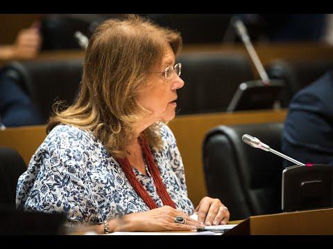 Elvira Rodríguez en la comparecencia de la vicepresidenta Nadia Calviño