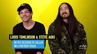 """Louis Tomlinson and Steve Aoki Talk """"Just Hold On"""" Collab"""