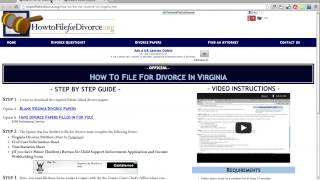 LIKE THIS VIDEO IF YOU LIKE FREE FORMS!!! http://wikidownload.com/wiki/virginia-divorce-papers/ Includes the Forms:...