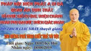 ĐĐ Thích Giác Nhàn giảng Xin Đừng Phá Thai Giết Trẻ Vô Tội ngày 18/08/2019