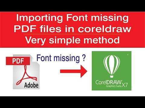 Importing Font Missing PDF Files In Coreldraw -very Simple Method