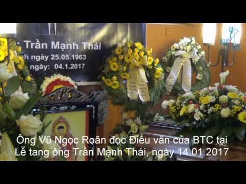 NguoiViet.de - Tang lễ ông Trần Mạnh Thái: Điếu văn của BTC