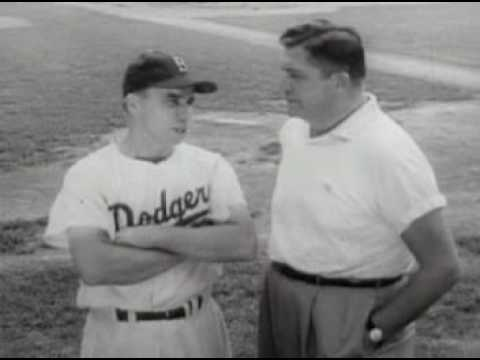 1950's Gillette Commercial Starring Pee Wee Reese and Roy ...