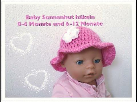 EINFACHEN Baby Sonnenhut häkeln 0-6 Monate und 6-12 Monate super für Anfänger geeignet