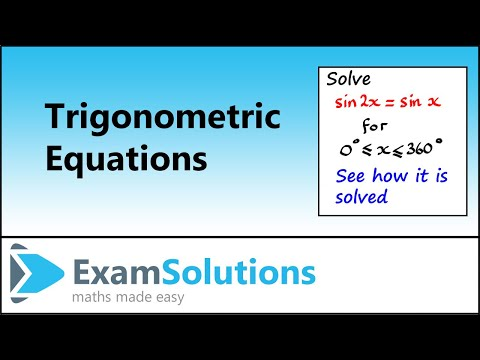 Trigonometry Equations: Double Angle Typen (1): ExamSolutions