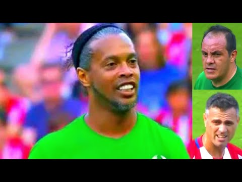 Atletico Madrid Vs World Legends ⚽️ RONALDINHO ⚽️Atletico Madrid Vs Leyendas Del Futbol