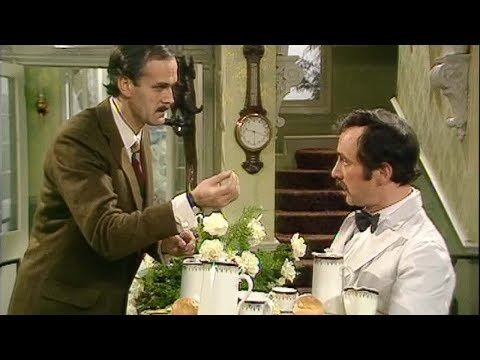 Manuel - Basil and Manuel have a conversation about how to dress the breakfast trays. Subscribe to Comedy Greats for more hilarious videos: http://www.youtube.com/sub...