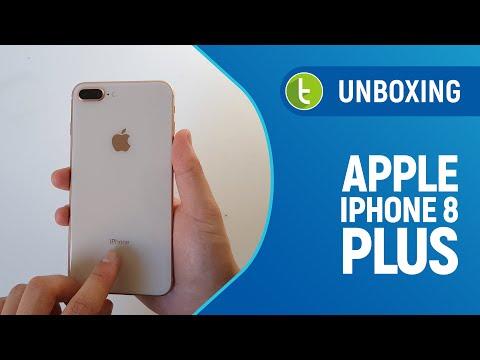 Apple iPhone 8 Plus: unboxing e primeiras impressões  Vídeo do TudoCelular.com