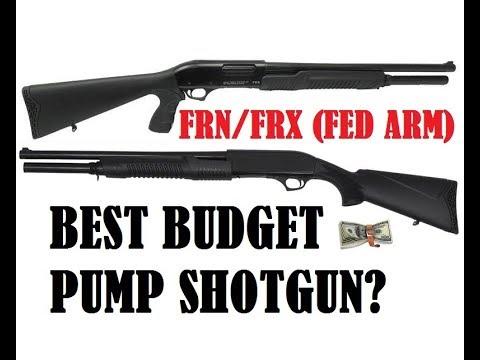 FRN FRX FED ARMS SHOTGUN REVIEW BEST BUDGET 12 GAUGE PUMP ACTION HOME DEFENSE