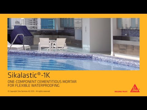 Sikalastic®-1K: One-component cementitious Mortar for flexible Waterproofing