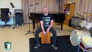 The Cajon Playing Position