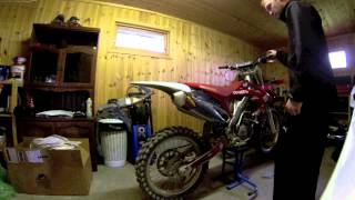 9. Honda CRF250R  - Original Exhaust vs FMF Powerbomb/core4.  GoPro HD 3
