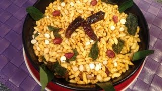 Masala kara pori  or spicy puffed rice