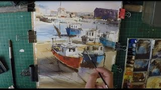 How To Paint Fishing Boats In Watercolour