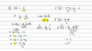 Intermediate Algebra - Functions: Finding an Equation for the Inverse Function