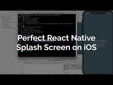Perfect React Native Splash Screen (iOS)