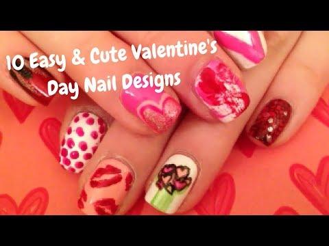 10 Easy & Cute Valentine's Day Nail Designs // threesixtynailsTV