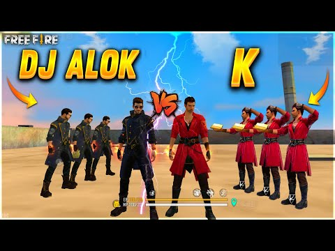 Dj Alok Vs ' K ' Factory Challange | 4 vs 4 who Will Win ? | Dj Alok And K - Garena Free Fire