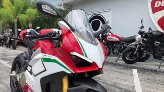 10. 2018 Ducati Panigale V4 SPECIALE Walkaround at Euro Cycles of Tampa Bay Florida
