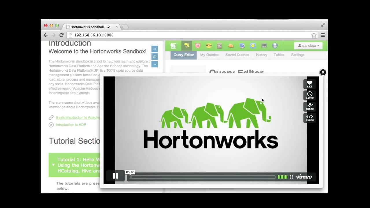 Hadoop Tutorial: Introduction to Hortonworks Sandbox