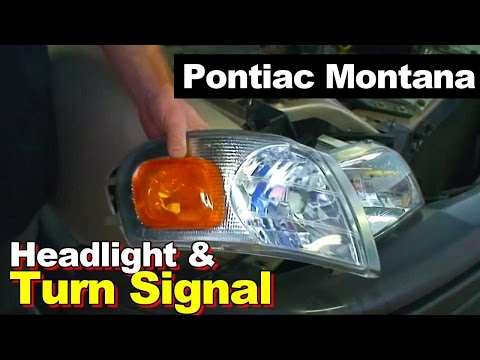 2003 Pontiac Montana Headlight And Turn Signal Light Replacement