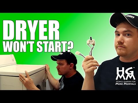 HELP! My Clothes Dryer Won't Start! How To Replace A Dryer Door Switch