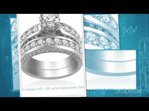 Women's Elite Diamond Ring - Platinum Diamond Matching Bridal Set 3.00 cttw