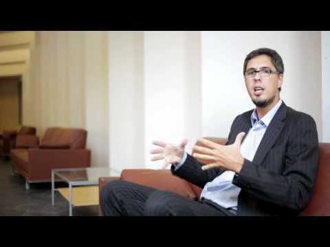 Javier Gosende entrevistado antes de su ponencia en Enrédate Castellón 2011