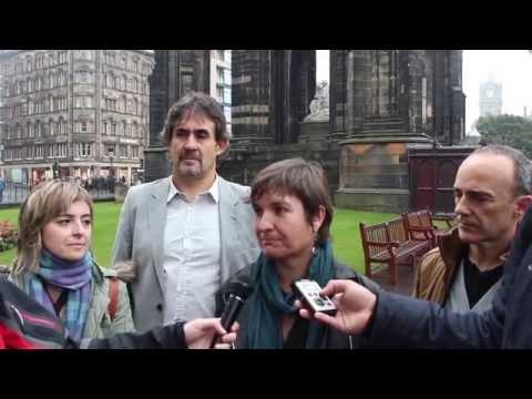 Maribi Ugarteburuk erreferendumaren balorazioa egin du Edinburgotik