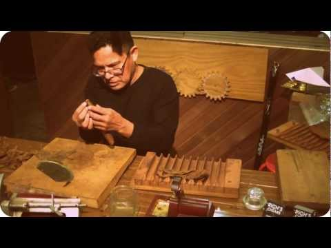 "Master rolling a cigar using the ""old-world"" method. [6:50]"