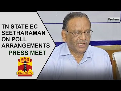 TN-State-Election-Commissioner-Seetharaman-on-Arrangements-for-Civic-Polls-Press-Meet