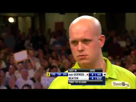 darter - Michael van Gerwen's 9-darter at the 2012 World Matchplay against Steve Beaton.